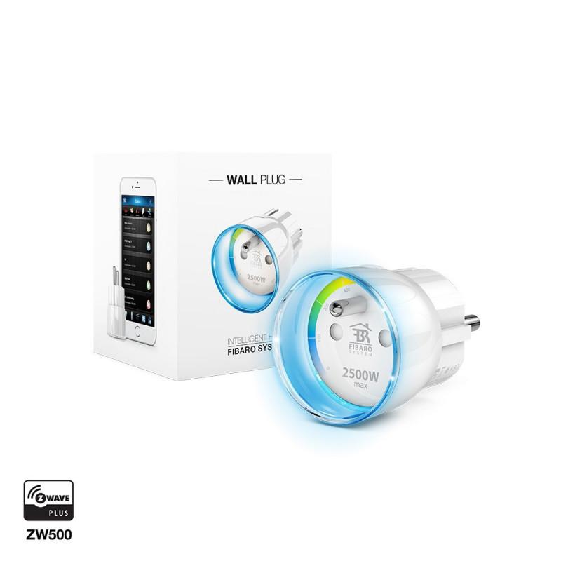 FIBARO - Module prise commutateur et consomètre Z-Wave+ Fibaro Wall Plug FGWPE-102 ZW5, FR