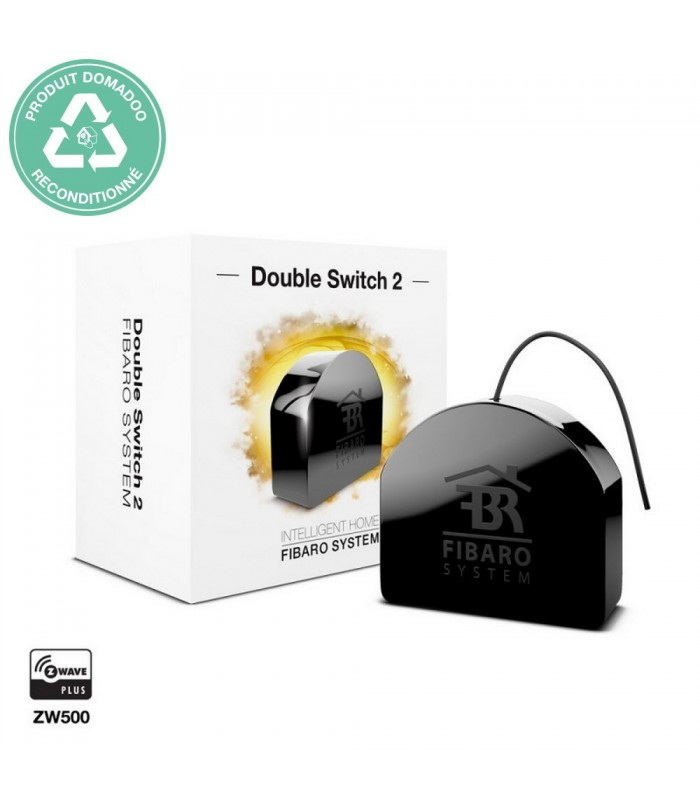 RECONDITIONNE - FIBARO - Micromodule commutateur double Z-Wave+ Fibaro Double Switch 2 FGS-223