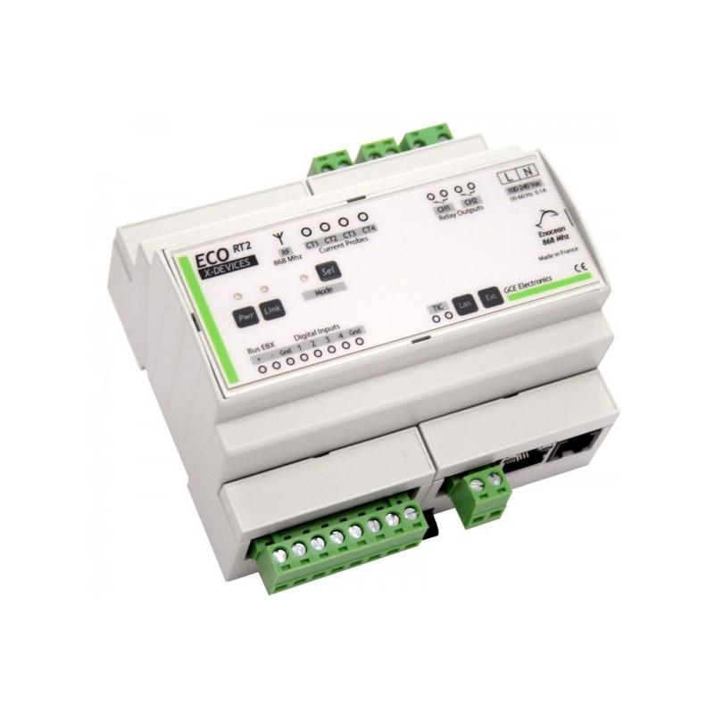 GCE ELECTRONICS - Gestionnaire d'énergie (ecocompteur) autonome Ecodevices RT2