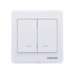 TKB HOME Interrupteur double charge Z-Wave+ Blanc
