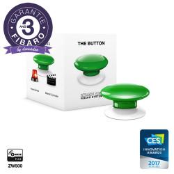 FIBARO - Contrôleur de scènes Fibaro Button Z-Wave+, vert