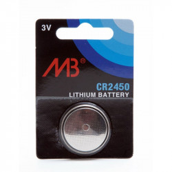 MICROBATT - Blister 1 Pile Bouton Lithium CR2450 3V 600mAh
