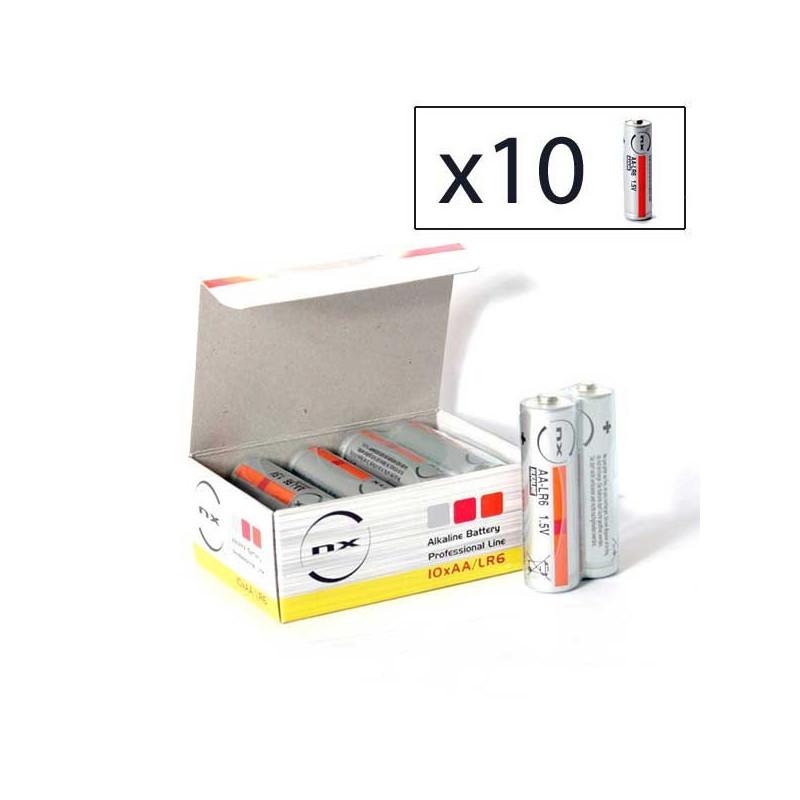 ENIX ENERGIES Boite 10 piles Alcaline LR06 NX 1,5V 3,4Ah