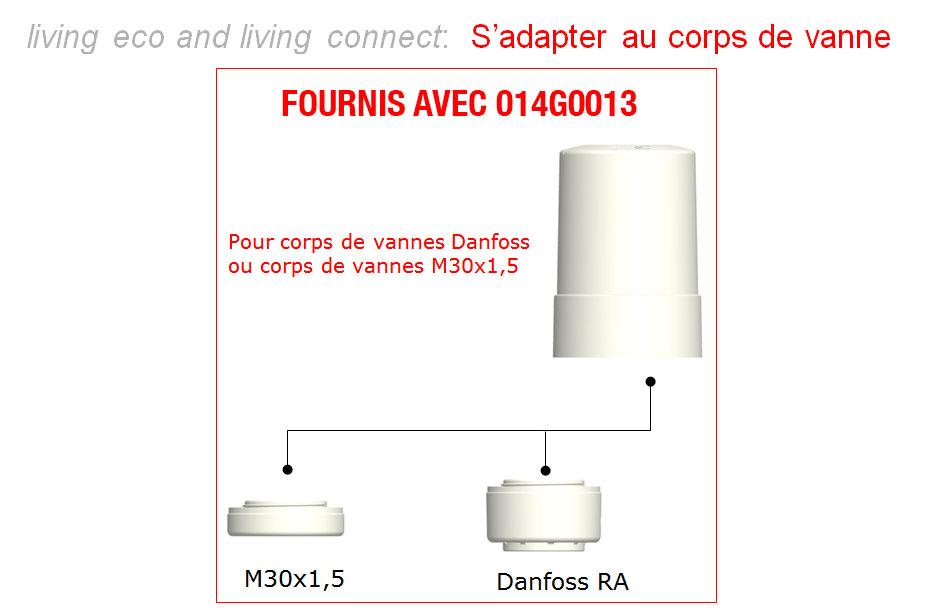 danfoss adaptateur fournis 014G0013