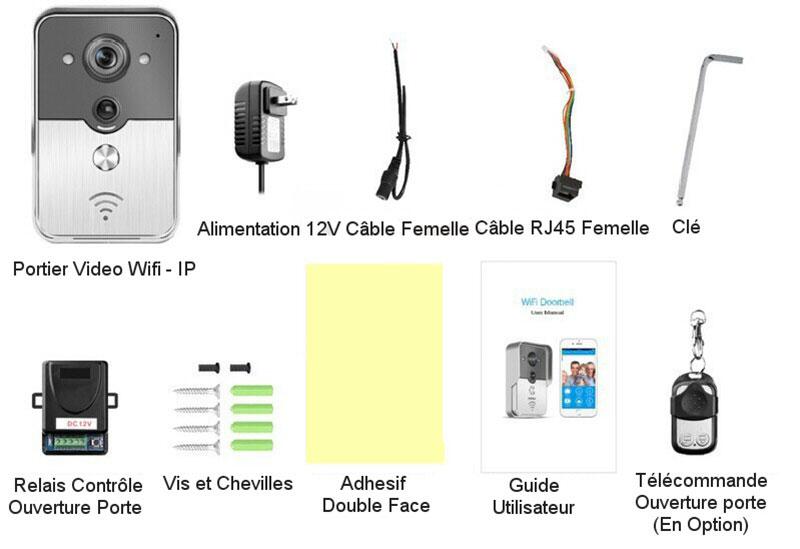 Portier vidéo WiFi KONX - Contenu