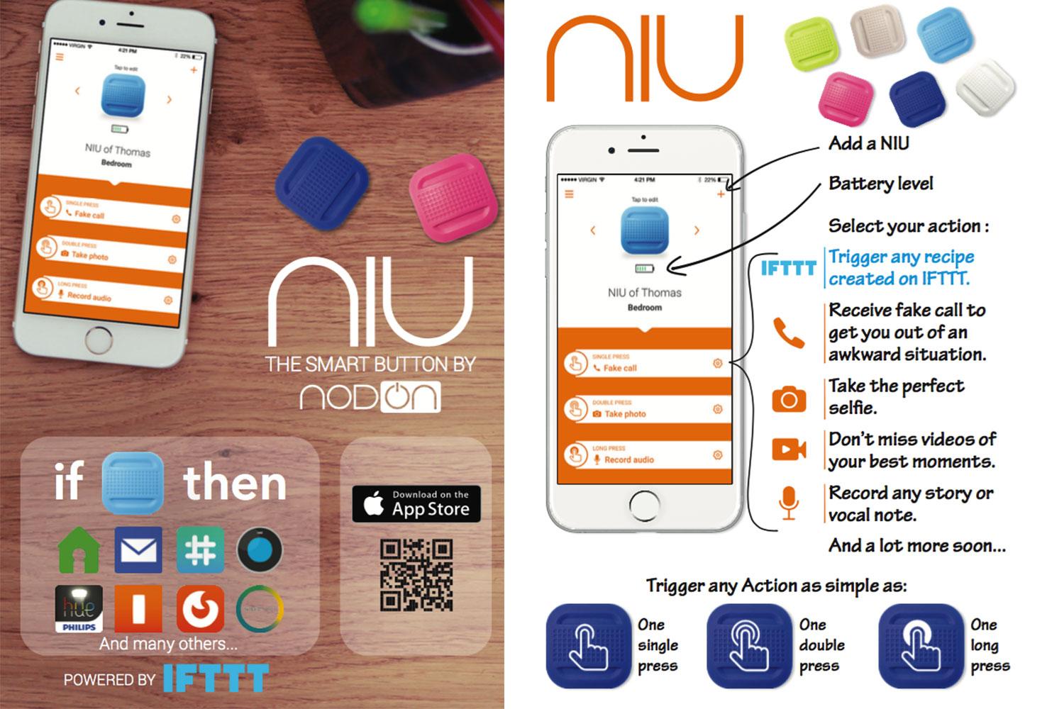 NIU télécommande smartphone compatible Bluetooth et IFTTT