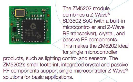 Puce Z-Wave série 500